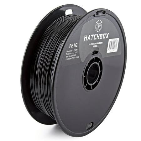 Hatchbox 3D Petg 1Kg1 75 Blk Petg 3D Printer Filament  Dimensional Accuracy     0 05 Mm  1 Kg Spool  1 75 Mm  Black