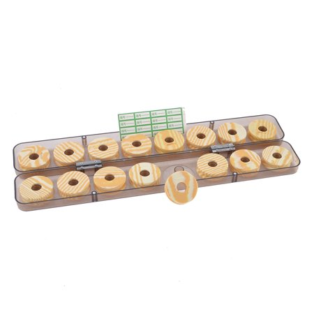 16 Set Biscuit Shape Fishing Line Spool Bobbins with Cylinder Case