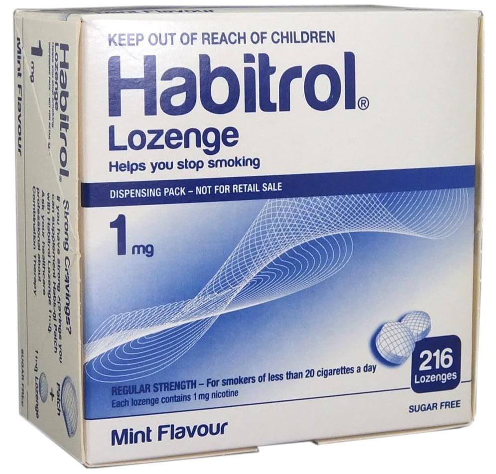Habitrol Nicotine Lozenge 1mg Mint Flavor, 216ct