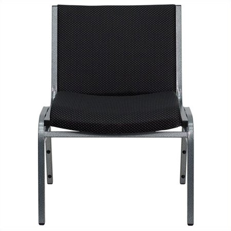 Bowery Hill Extra Wide Stacking Chair in Black - image 2 de 3
