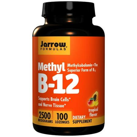 Jarrow Formulas, Methyl B-12, Tropical Flavor, 2500 mcg, 100 Lozenges(Pack of