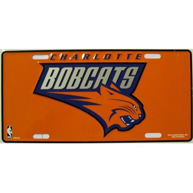 LP - 655 Charlotte Bobcats License Plate - 69001M