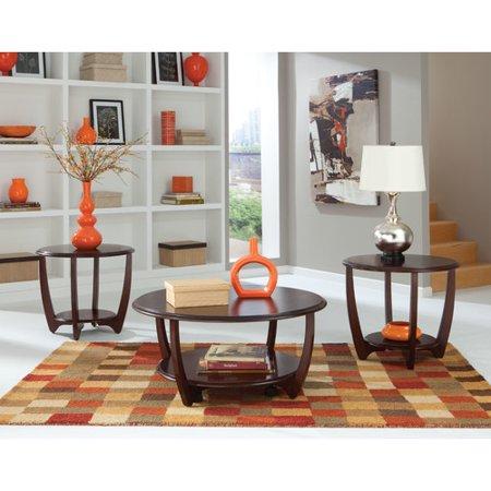 Standard Furniture Seattle Ii Round Dark Cherry Wood 3