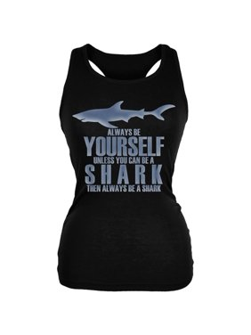 dc66740eb7dc2 Product Image Always Be Yourself Shark Juniors Soft Tank Top