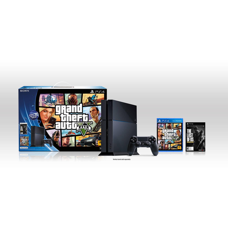 Playstation 4 Black Friday Bundle Grand Theft Auto V And The Last Of Us Remastered Walmart Com Walmart Com