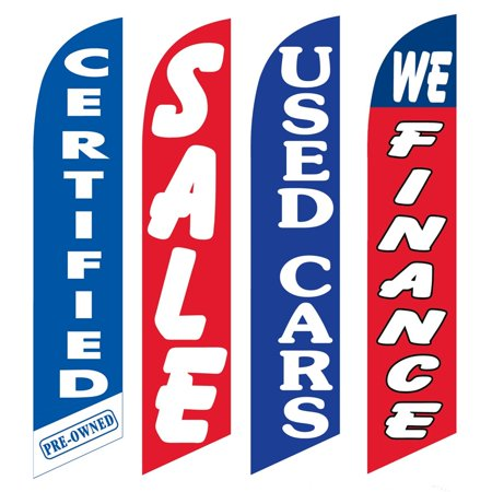 4 Advertising Swooper Flags Certified Pre Owned Sale Used Cars We Finance