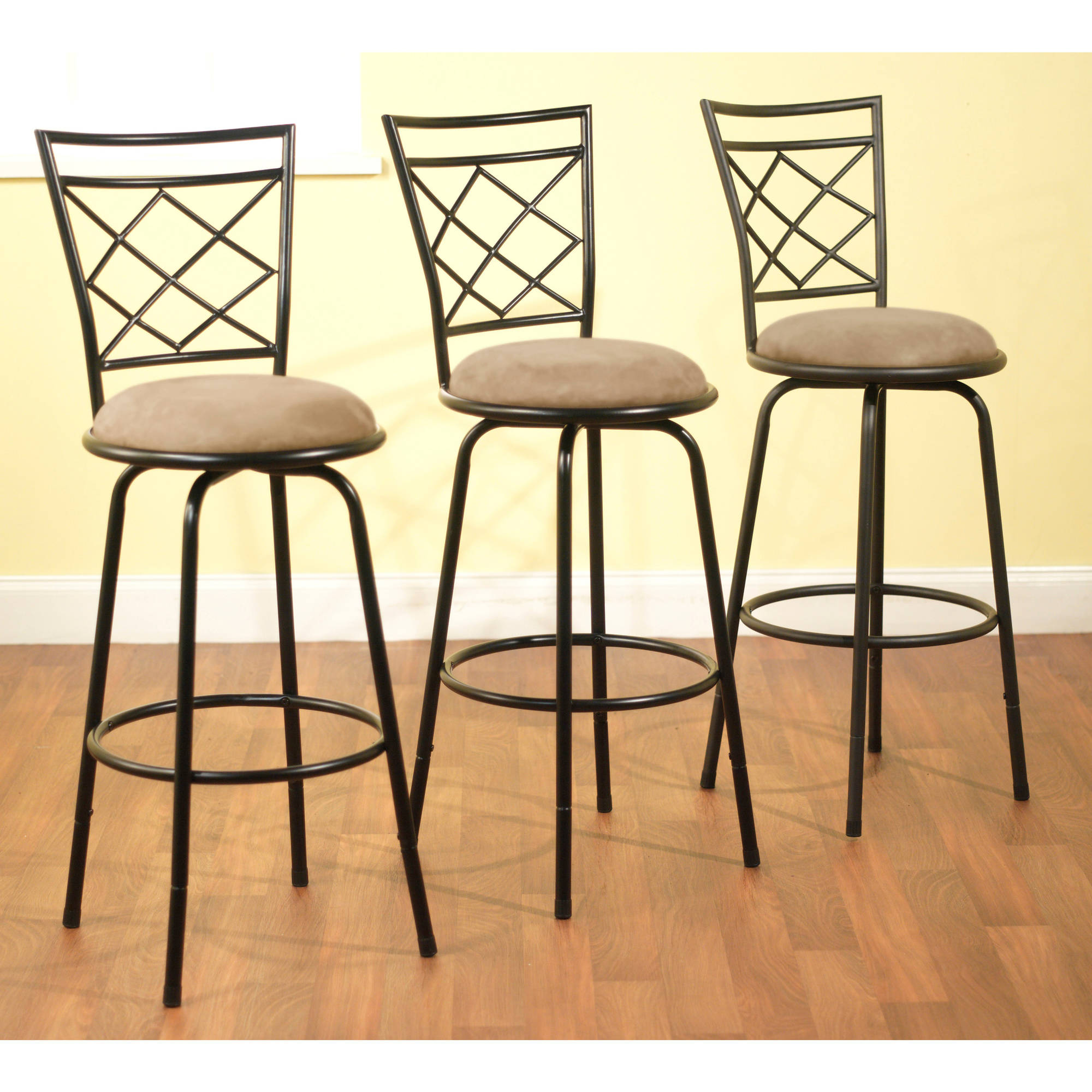 3 Piece Avery Adjustable Height Barstool Multiple Colors