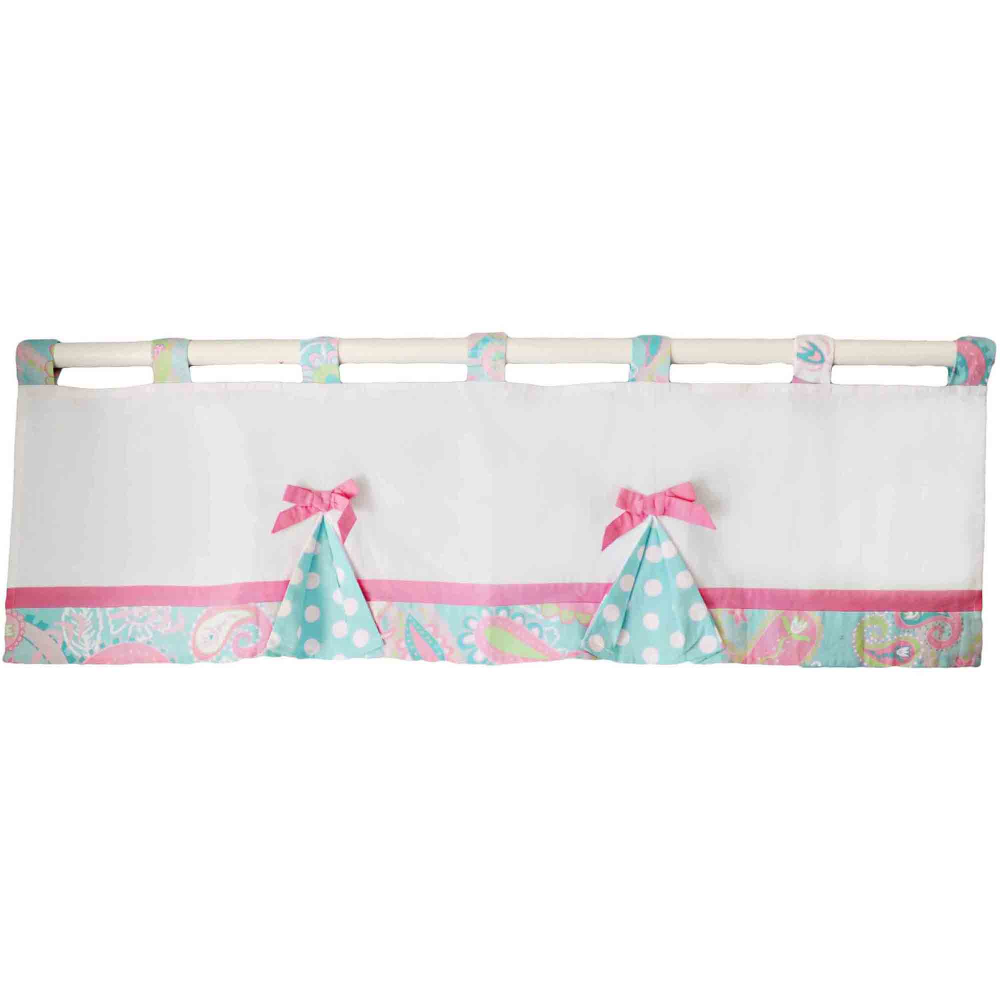 My Baby Sam Pixie Baby Curtain Valance, Aqua by My Baby Sam