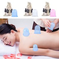 Jeobest 1PC Silicone Cupping Cup - Silicone Massage Cup - Silicone Cupping Therapy - Family Silicone Massage Cupping Body Massage Helper Anti Cellulite Vacuum with Carry Bag MZ (3 colors available)
