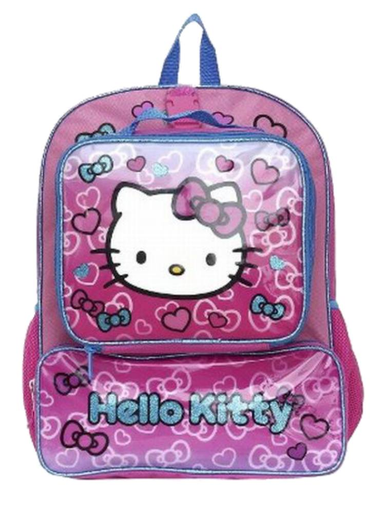33270cb243a Sanrio Hello Kitty Backpack   Lunchbox Travel School Day Back Pack -  Walmart.com