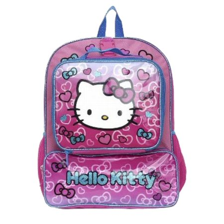 ca54611534 Sanrio Hello Kitty Backpack   Lunchbox Travel School Day Back Pack -  Walmart.com