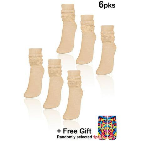 White Socks Black Shoes - Basico Women's Lightweight Slouch Socks