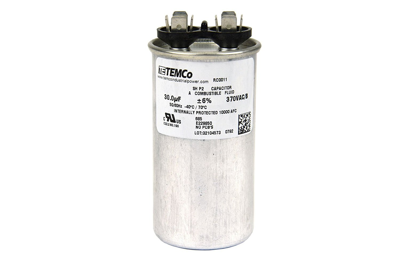 50 MFD 370v Round AC Electric Motor Run Capacitor HVAC 370 vac v volts 50 uf