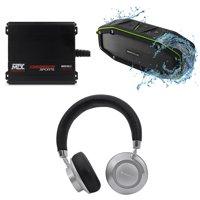 MTX MUD100.2 200 Watt RMS 2-Channel Amplifier For RZR/ATV/UTV+Speaker+Headphones