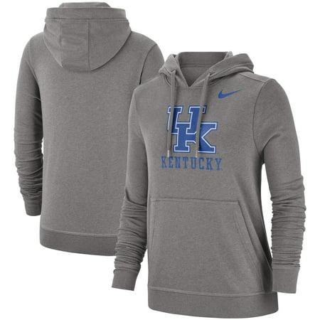 Kentucky Wildcats Nike Women's Team Club Pullover Hoodie - Heathered Gray