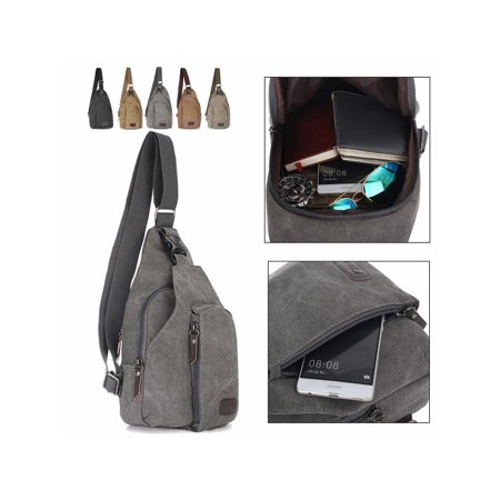 58d77a1f5 Military Vintage Tactical Canvas Shoulder Backpack Messenger Bag Satchel bag  Travel Hiking Sport Bags Bookbag Working Bag for Men and Women - Walmart.com