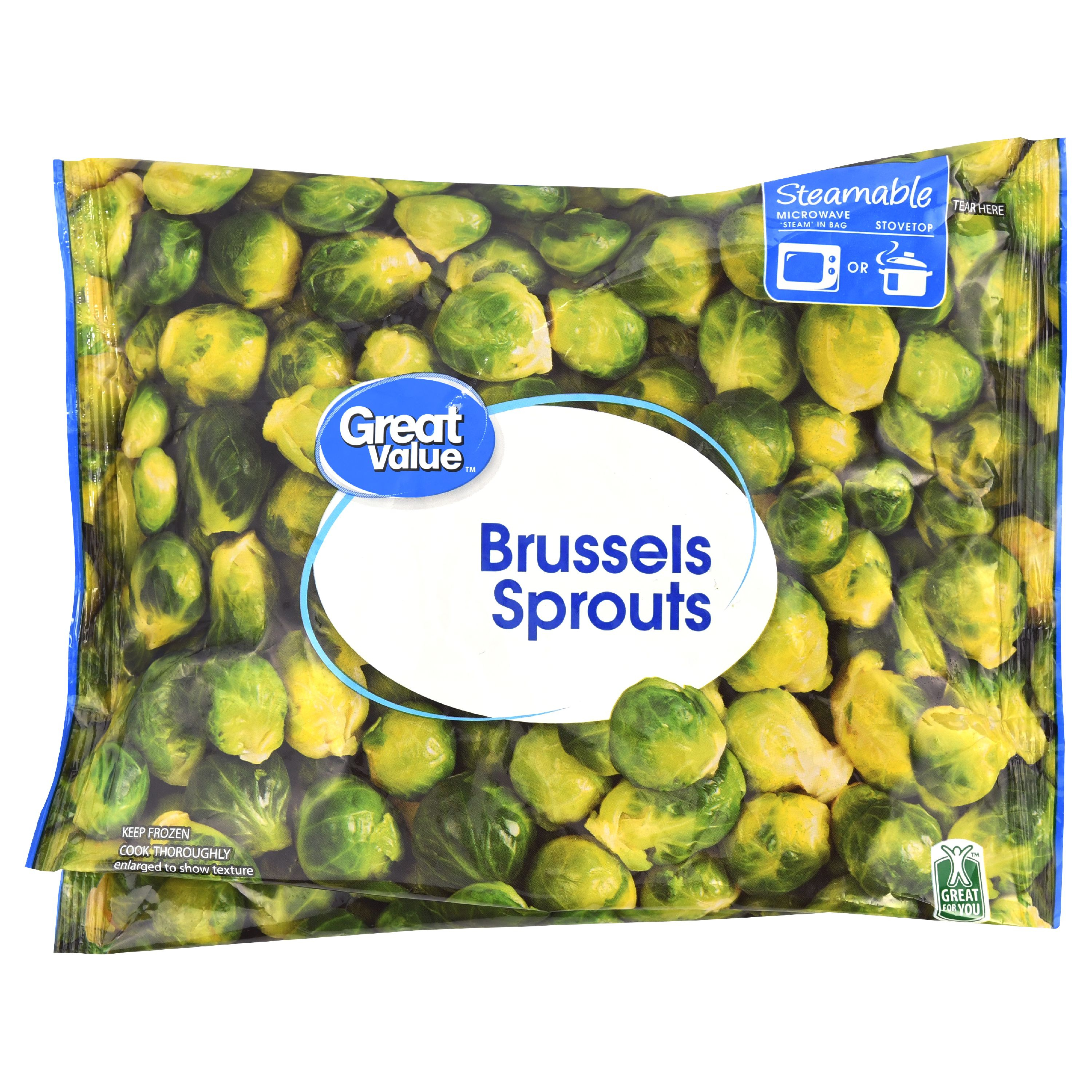 How long to cook frozen brussel sprouts in microwave