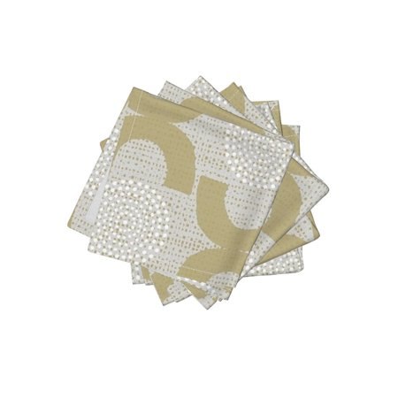 Cocktail Napkins Retro Trellis Home Decor Upholstery Neutral Dots 50S Set of 4](50s Decor Home)