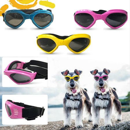 Cute Pet Dog Cat Sunglasses for Eye Care Pet Grooming Accessories (Cat Eye White)