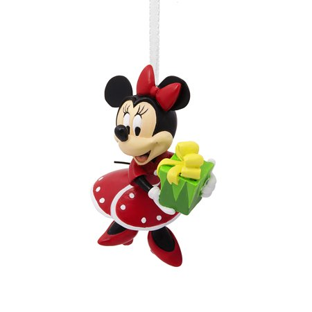 Hallmark Disney Minnie Mouse Holding Gift Christmas Ornament - Mickey And Minnie Ornaments
