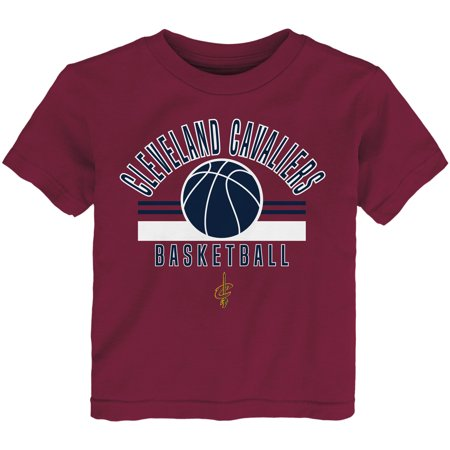 Cleveland Cavaliers Basketball Base (Newborn & Infant Wine Cleveland Cavaliers Short Sleeve T-Shirt)