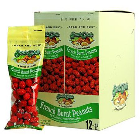 Product Of Snak Club , French Burnt Peanuts - Tube, Count 12 - Snacks / Grab Varieties & - Products Peanut