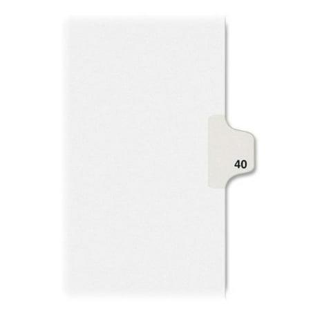 Kleer-Fax 80000 Series Side Tab Legal Exhibit Index Divider 82240