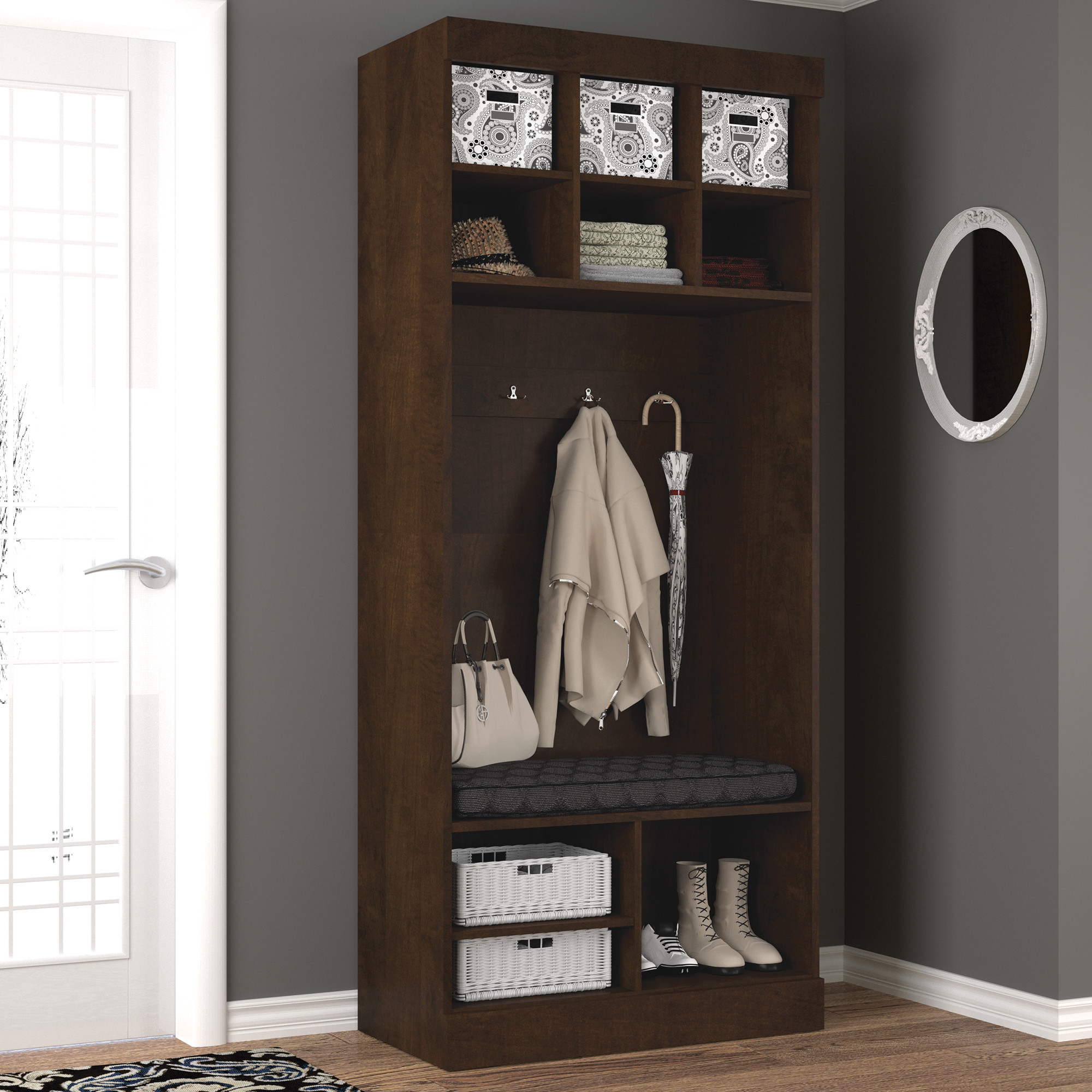 "Bestar Boutique 36"" Cubby Storage with Bench by"