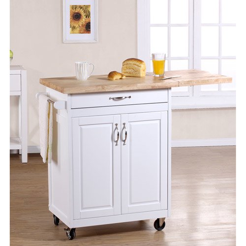 Mainstays Kitchen Island Cart Multiple Finishes Walmart Com