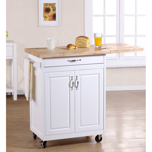 Charming Mainstays Kitchen Island Cart, Multiple Finishes   Walmart.com