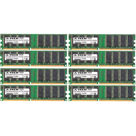 8GB Kit 8x 1GB Modules PC2700 333MHz NON-ECC DDR DIMM Desktop 184-pin Memory Ram ()