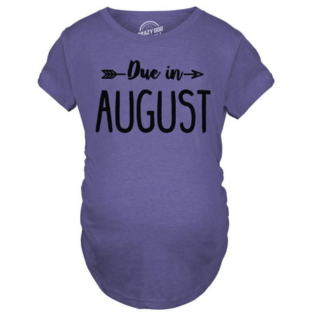 c27c4423615d1 Maternity Due In August Funny T shirts Pregnant Shirts Announce Pregnancy  Month Shirt - Walmart.com