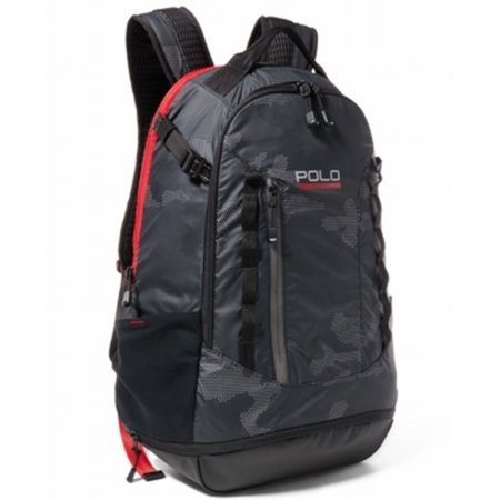 dad87e7b0 Polo Ralph Lauren - Polo Ralph Lauren NEW Black Red Ripstop Sport Men's Backpack  Bag - Walmart.com