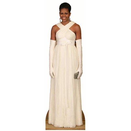 Star Cutouts Michelle Obama Dress Cardboard Cutout Life Size Standup