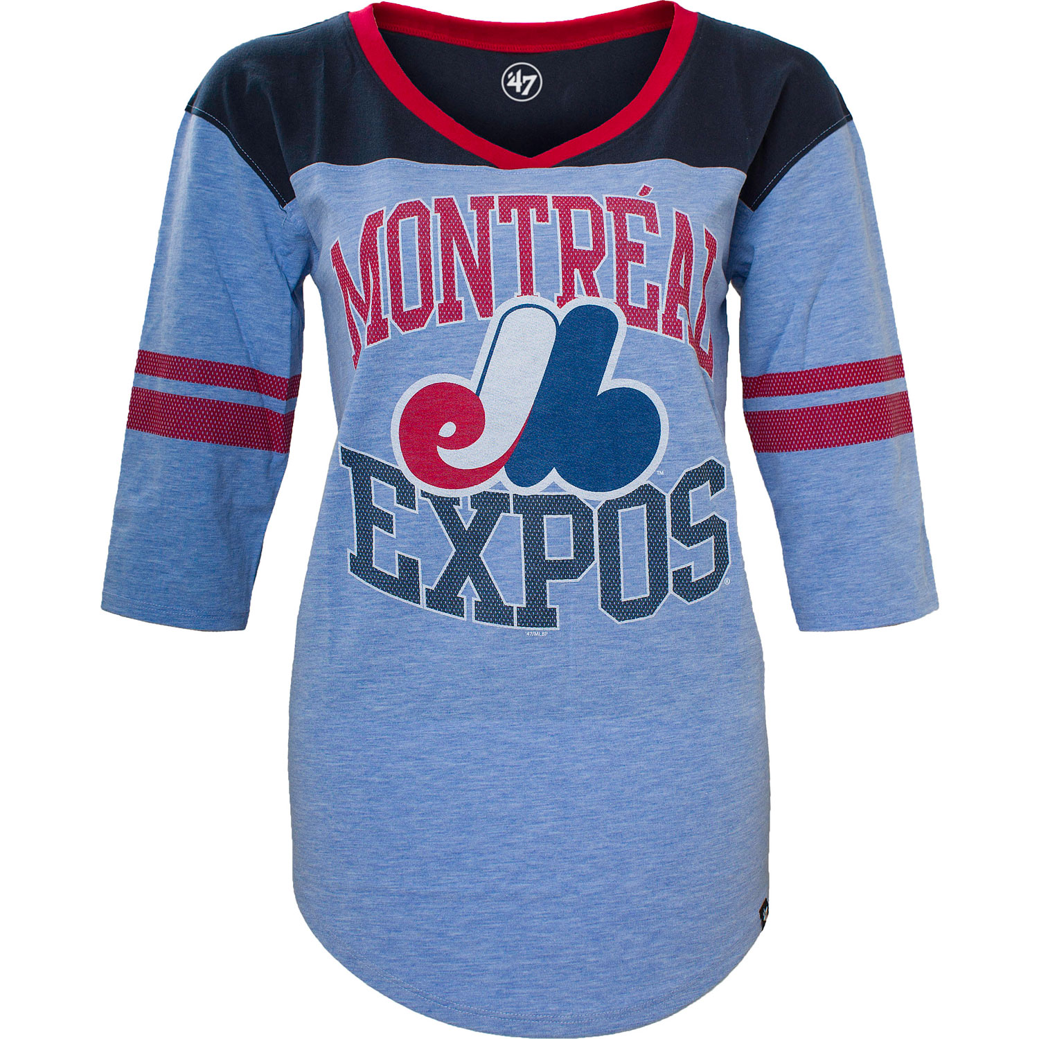 Montreal Expos Replay Rush Tee - Womens - Large