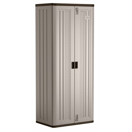 Suncast Tall Resin Storage Cabinet Locker, Platinum, - Suncast Garage Storage