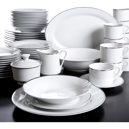 Gibson Elite Platinum Studio 65 Piece D Walmart Com  sc 1 st  tagranks.com & Stunning Gibson Home Platinum Studio 65 Piece Dinnerware Set White ...