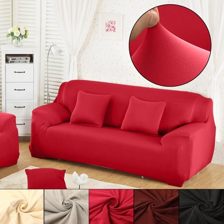 1pcs 3 Seat L Shape Stretch Elastic Fabric Sofa Furniture
