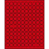 """3/4"""" Round Brilliant Red Labels for Laser Printers, Inkjet Printers or Copier Machines. (GLC075BR)"""