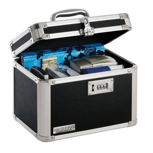 Vaultz Combo Lock Storage Box Black, Storage Box With Lock