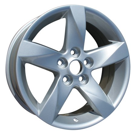 Eclipse Wheel (2006-2009 Mitsubishi Eclipse  17x7.5 Aluminum Alloy Wheel, Rim Bright Silver Full Face Painted -)
