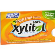 Epic Dental Gum - Xylitol - Fresh Fruity - 12 Count