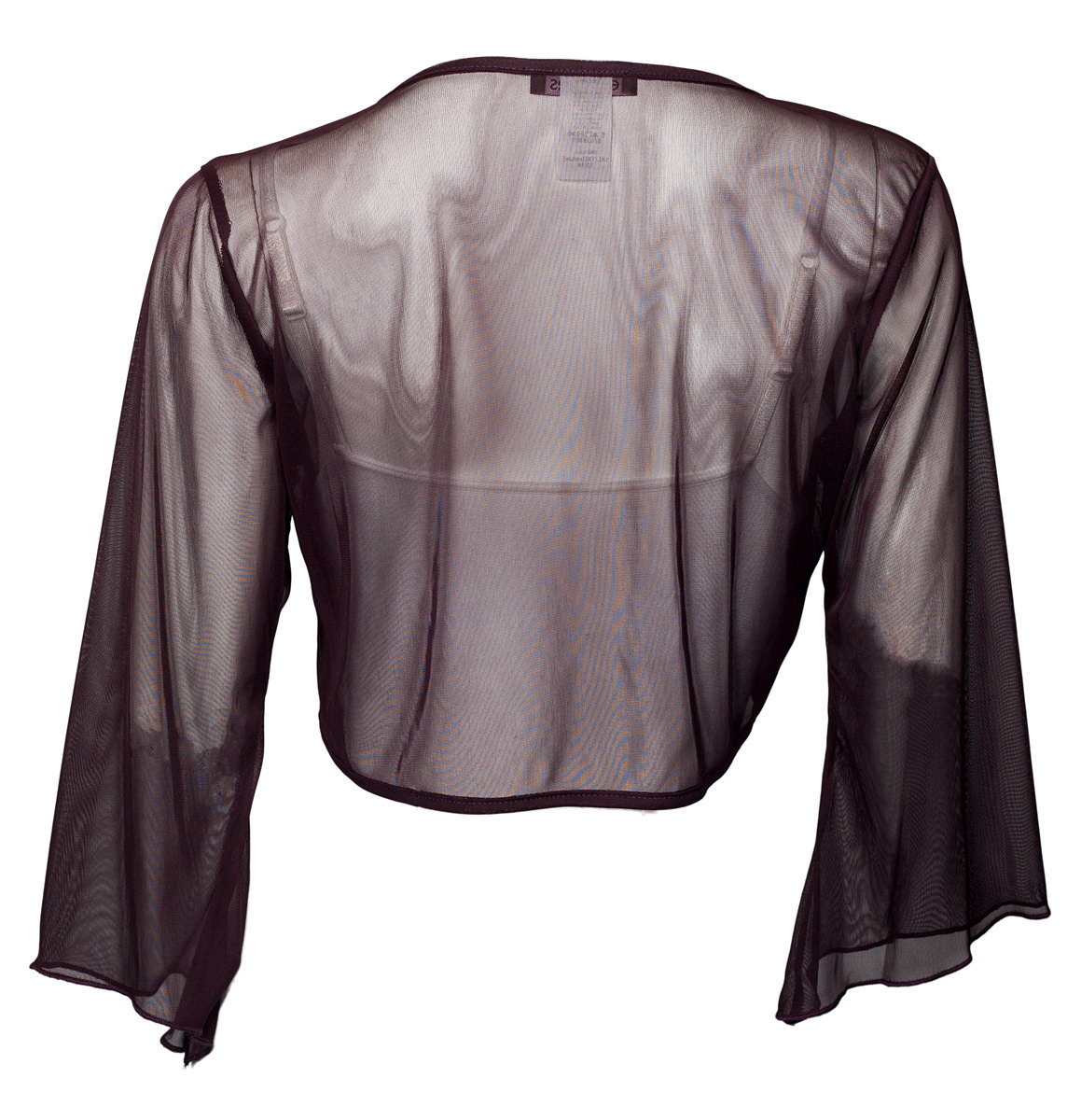 8c20f5716d7 eVogues Apparel - eVogues Plus Size Sexy Purple Sheer Front Tie Bolero Shrug  - Walmart.com