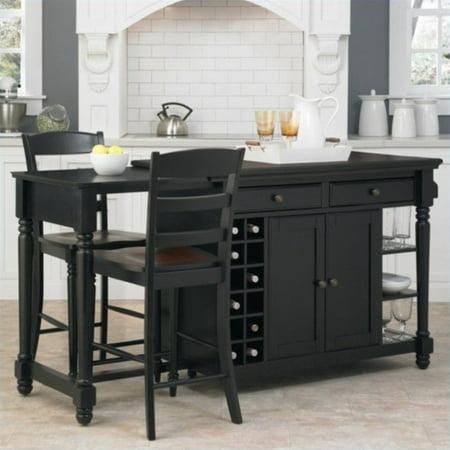 0fe696173c1 Home Styles Grand Torino Kitchen Island and Stools 3 Piece Set - Walmart.com