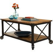 Better Homes And Gardens Rustic Country Coffee Table Antiqued Black Pine Finish Image 2