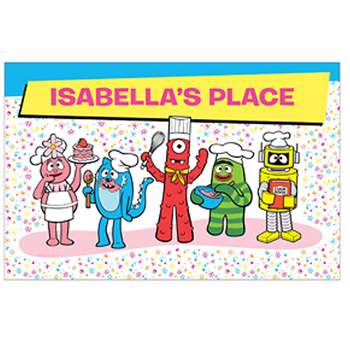 Personalized Yo Gabba Gabba! Cooking Time Placemat