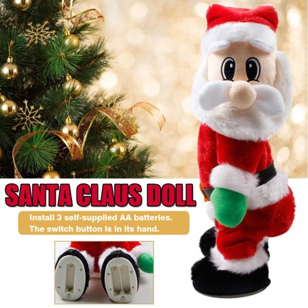 Kids Electric Toy Santa Claus Toy Wriggling Butt Music Toy Santa Claus Cloth Doll Plush Toy