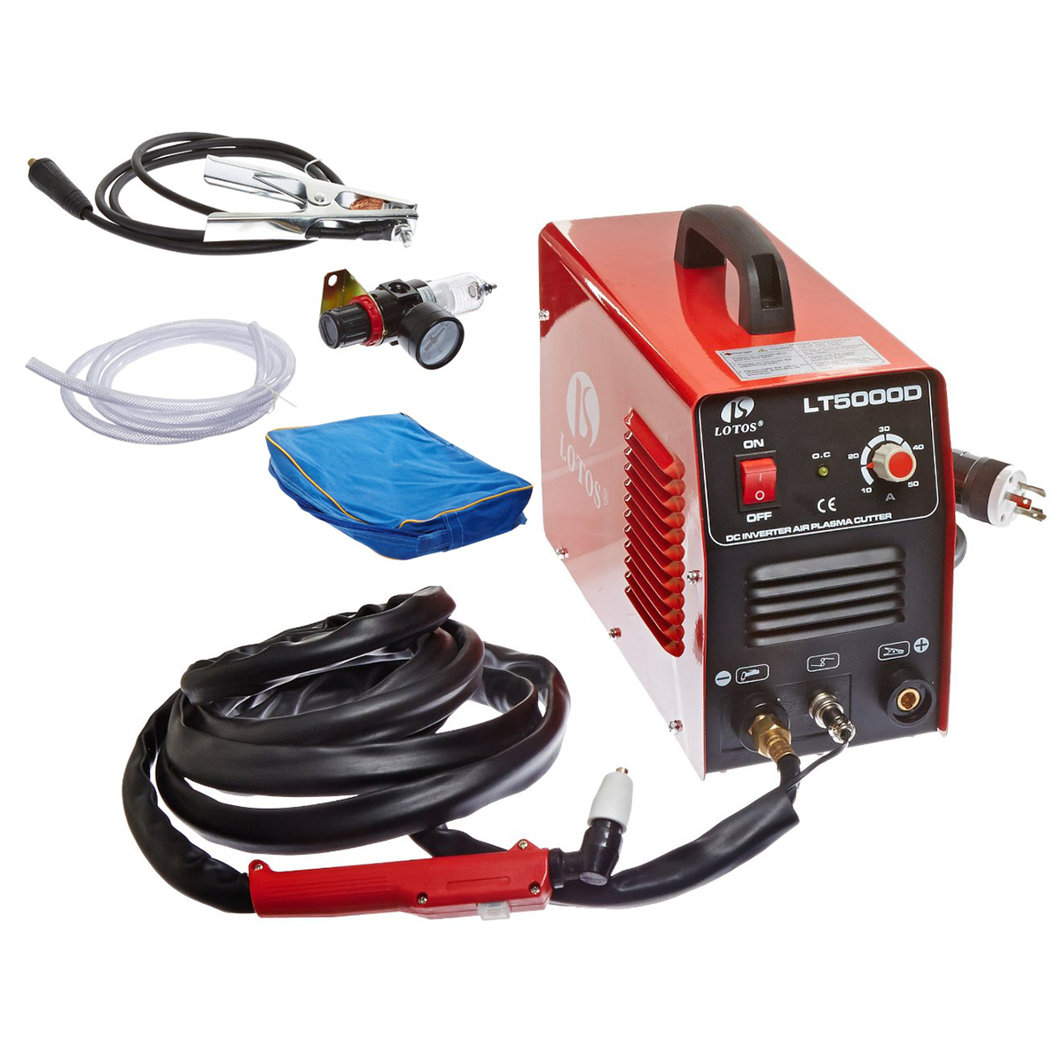 Lotos Dual Voltage (110/220V) 50 Amp Plasma Cutter withou...
