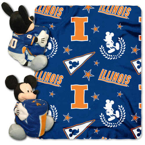 Illinois Fighting Illini Disney Hugger Blanket