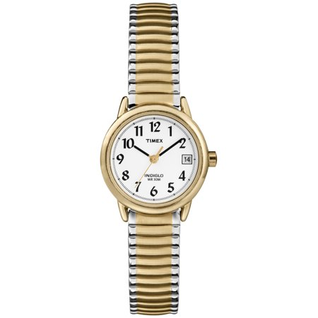 Women's Easy Reader Watch, Two-Tone Stainless Steel Expansion Band ()